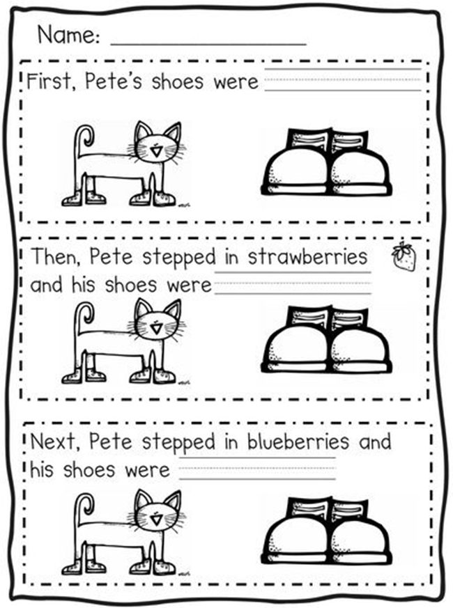 73 Cool Pete The Cat Freebies And Teaching Resources Kindergartenworks First Next