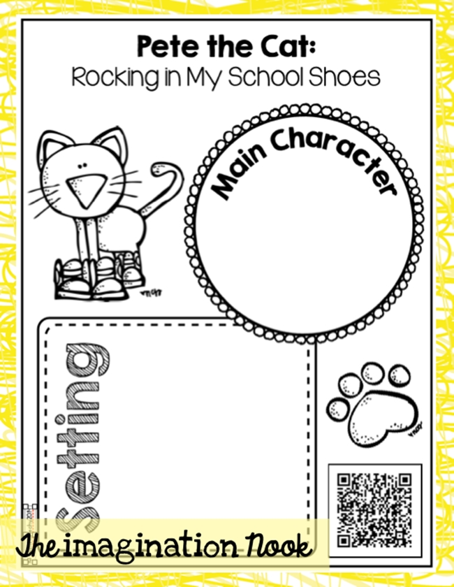 73 Cool Pete the Cat Freebies and Teaching Resources :: KindergartenWorks - Listening Center Response Sheet