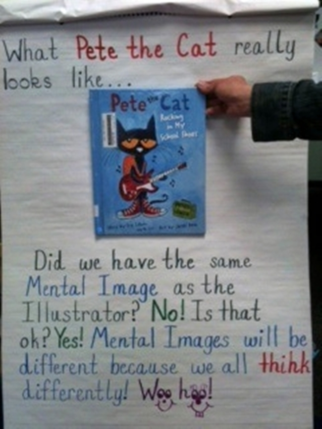 73 Cool Pete the Cat Freebies and Teaching Resources :: KindergartenWorks - Making Mental Images