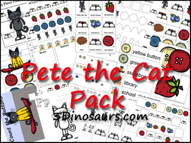 73 Cool Pete the Cat Freebies and Teaching Resources :: KindergartenWorks - Packed Out Pack