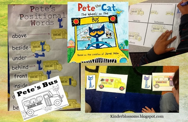 73 Cool Pete the Cat Freebies and Teaching Resources :: KindergartenWorks - 73 Cool Pete the Cat Freebies and Teaching Resources :: KindergartenWorks - Positional Words Activities, Reader and Worksheet