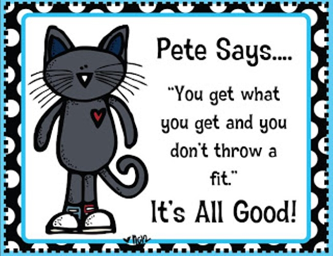 "73 Cool Pete the Cat Freebies and Teaching Resources :: KindergartenWorks - ""It's All Good"" Posters and Playdough Sight Words"
