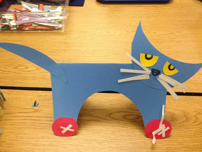 73 Cool Pete the Cat Freebies and Teaching Resources :: KindergartenWorks - Cut and Paste Pete