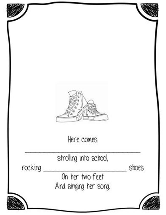 73 Cool Pete the Cat Freebies and Teaching Resources :: KindergartenWorks - Rockin' Feet Template