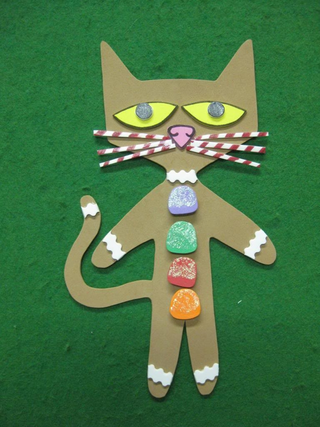 73 Cool Pete the Cat Freebies and Teaching Resources :: KindergartenWorks - Gingerbread Pete Alternate Version