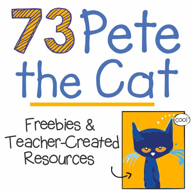 73 Cool Pete the Cat Freebies and Teaching Resources :: KindergartenWorks