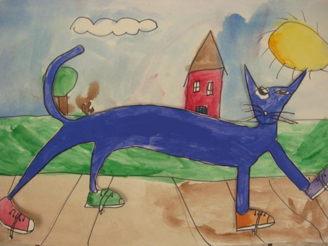 73 Cool Pete the Cat Freebies and Teaching Resources :: KindergartenWorks - Pete the Cat Guided Drawing