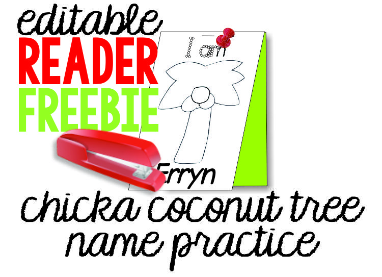 math worksheet : chicka chicka boom boom freebie coconut tree name pinning page  : Chicka Chicka Boom Boom Worksheets For Kindergarten