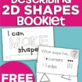 Describing 2D Shapes Booklet {Freebie Printable}