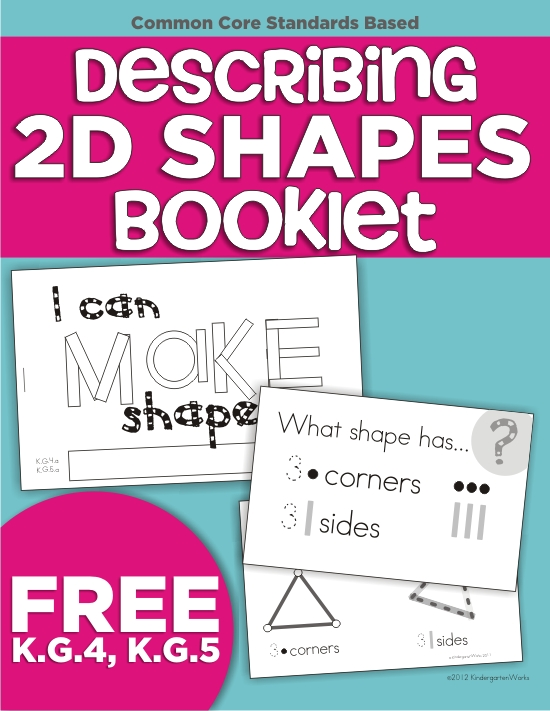 Describing 2d Shapes Mini Booklet Printable Kindergartenworks. Describing 2d Shapes Booklet Freebie Printable. Kindergarten. Printable Shapes For Kindergarten At Mspartners.co