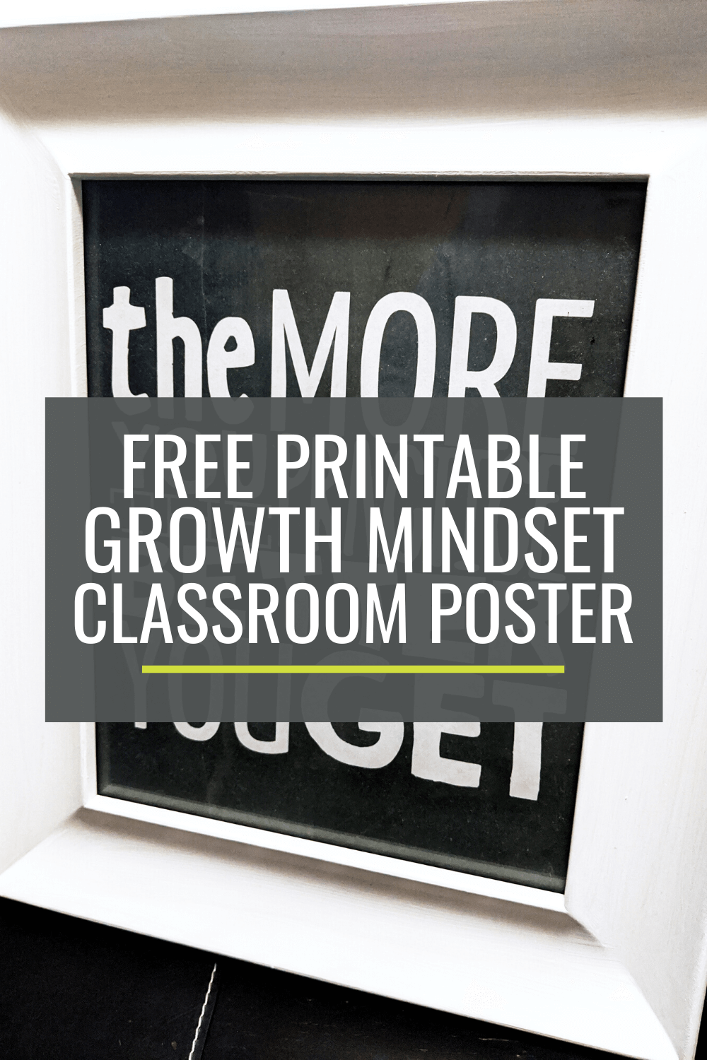 Free Printable Growth Mindset Classroom Poster
