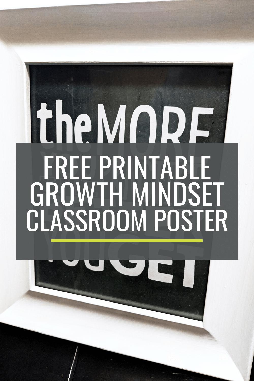 Free Printable Growth Mindset Classroom Poster