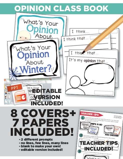 Frosted Opinion Writing Kindergarten