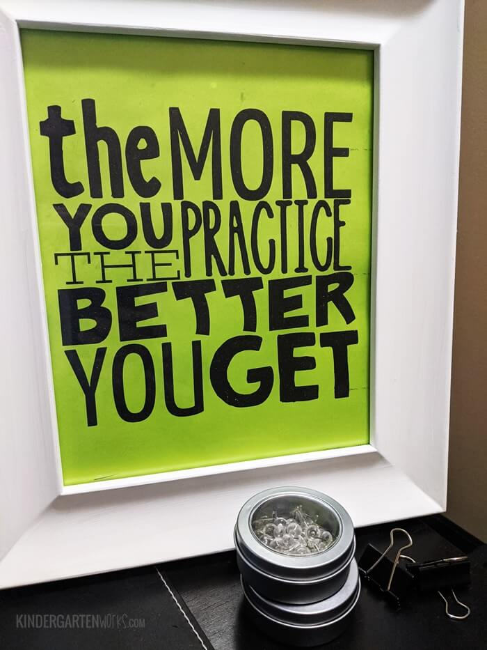 The more you practice the better you get Free Printable Growth Mindset Classroom Poster