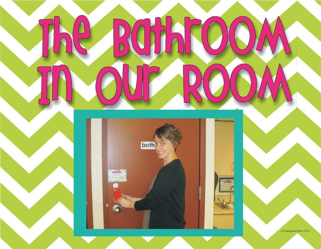 Classroom Bathroom Procedures Book {Sample Printable} KindergartenWorks