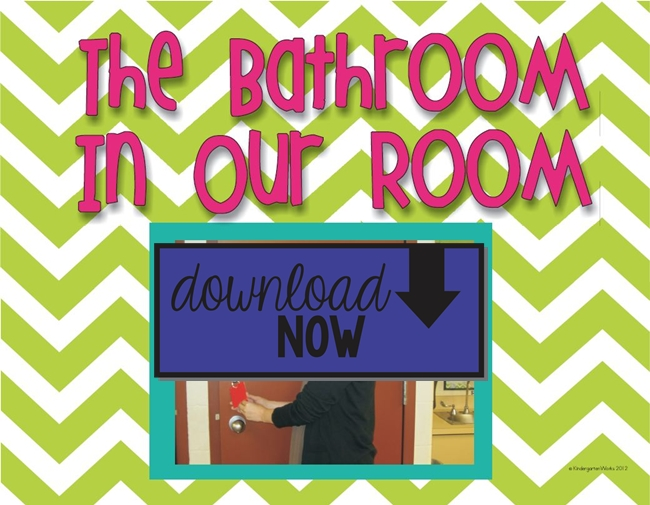 Classroom Bathroom Procedures Book Sample Printable Kindergartenworks