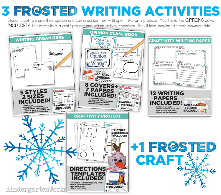 FROSTED Unit Writing Activities :: KindergartenWorks
