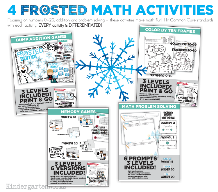 FROSTED Unit - Math Activities :: KindergartenWorks