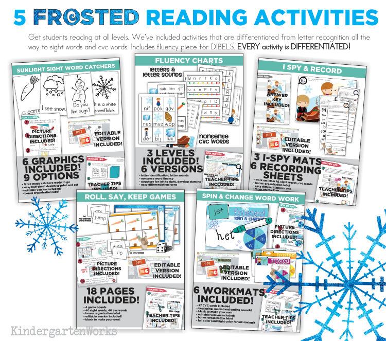 FROSTED Unit - Reading Activities :: KindergartenWorks