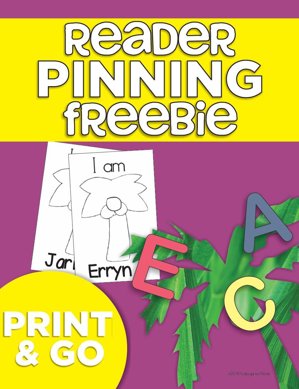 Name Pinning Chicka Coconut Tree {Freebie Printable} | KindergartenWorks