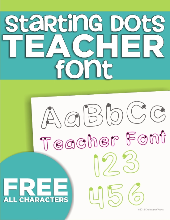 Starting Dot Outline Trace Font {Freebie Download}