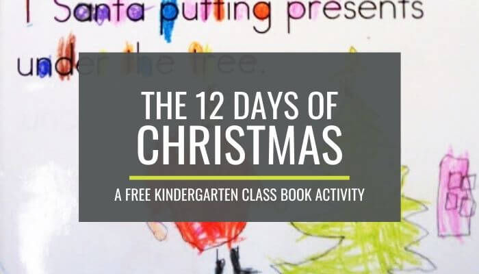 12 Days of Christmas Kindergarten Activity