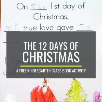 12 Days of Christmas Kindergarten Class Book Activity
