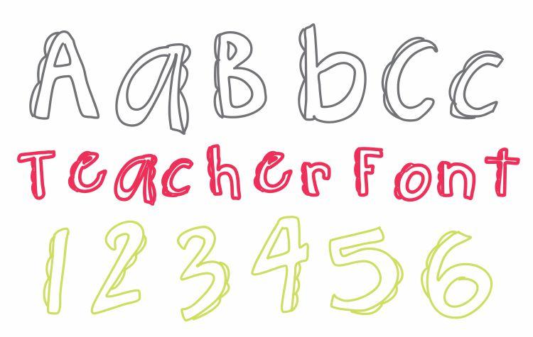 Bumpy Saw Font Teacher Font - Free Download KindergartenWorks
