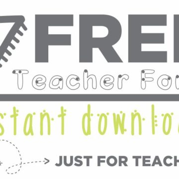7 Free Fonts - From One Teacher to Another