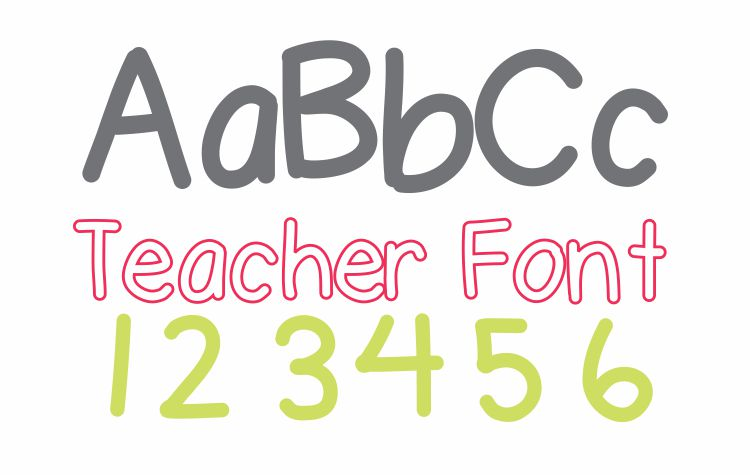 7 Free Fonts - From One Teacher to Another | KindergartenWorks