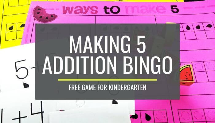 Ways to Make 5 Bingo - Free Download - KindergartenWorks