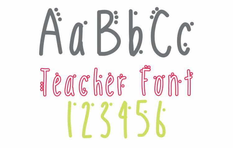 Mobile Dots Font Teacher Font - Free Download KindergartenWorks