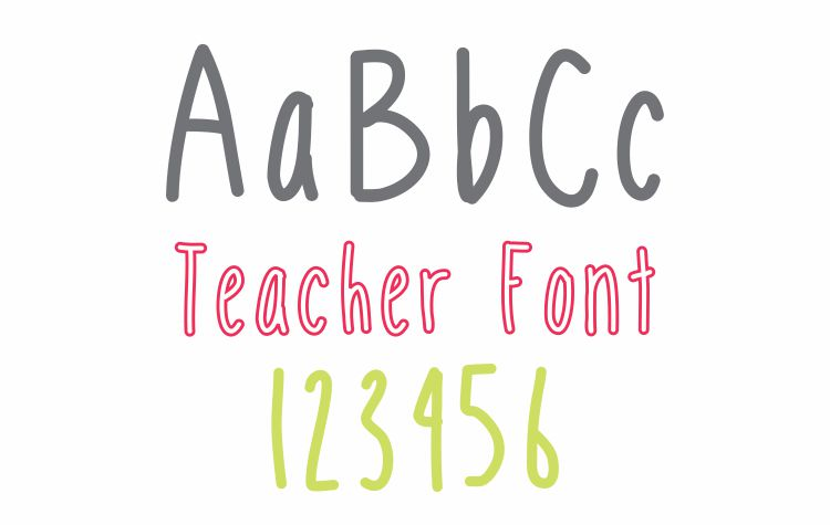 Mobile Font Teacher Font - Free Download KindergartenWorks