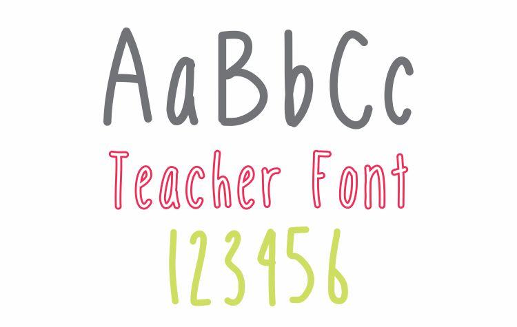 Mobile Font Teacher Font - Free Download KindergartenWorks