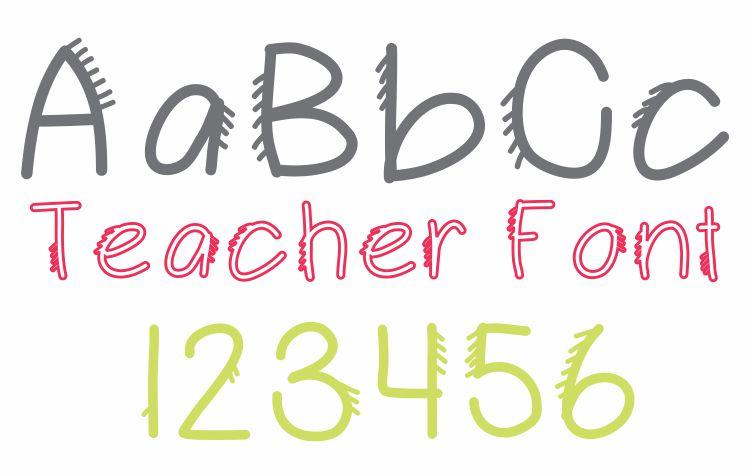 New Fringe Font Teacher Font - Free Download KindergartenWorks