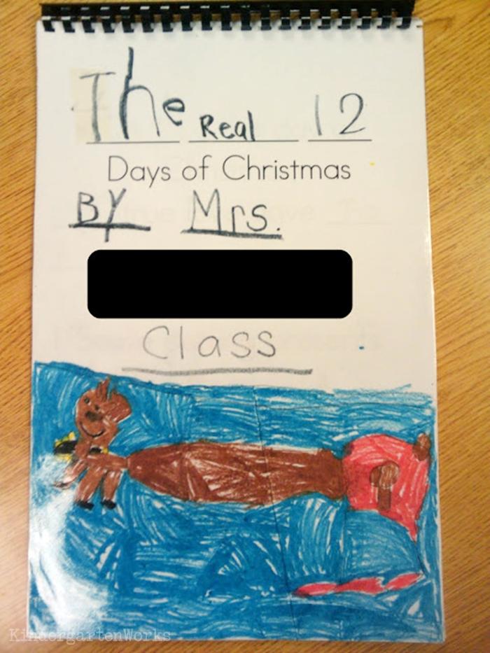 The 12 Days of Christmas Kindergarten Activity - class audio book