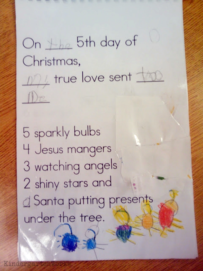 The 12 Days of Christmas Kindergarten Activity - decorations