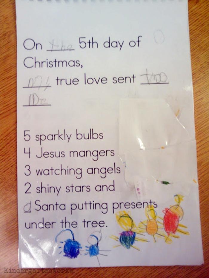 The 12 Days of Christmas Kindergarten Activity - decorations