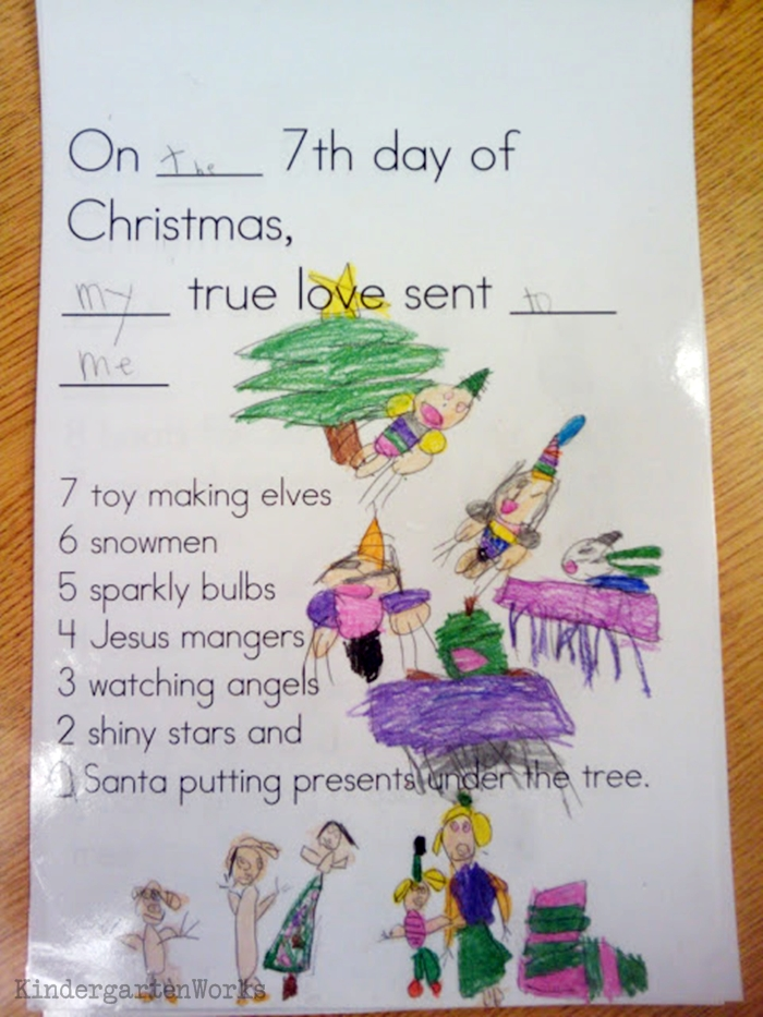 The 12 Days of Christmas Kindergarten Activity - elves