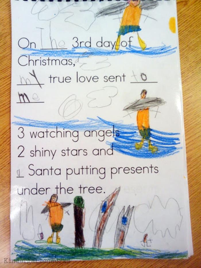 The 12 Days of Christmas Kindergarten Activity - precious keepsake