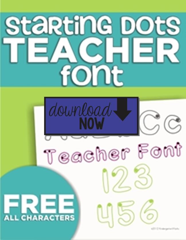 Starting Dot Outline Trace Font {Freebie Download} | KindergartenWorks