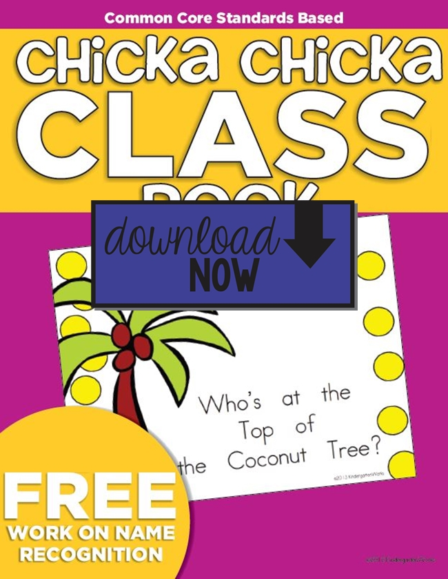 Chicka Chicka Boom Boom Class Book {Freebie Printable} Download