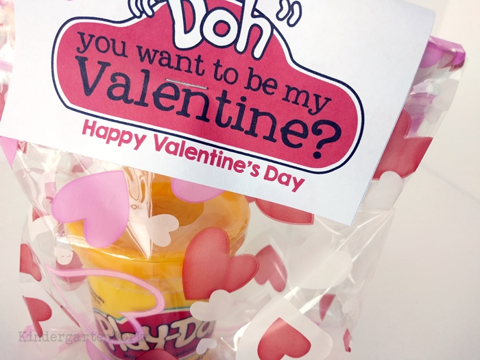 Playdough makes a great Valentine's Day gift to give to students