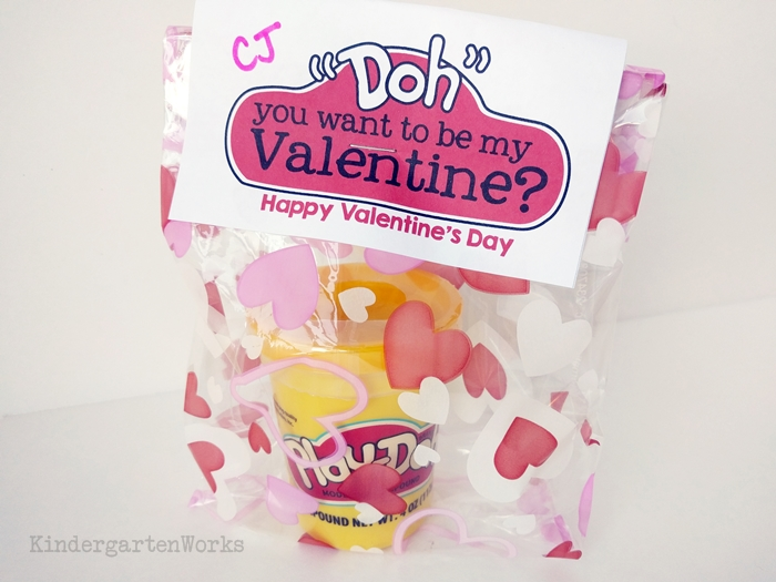 Valentine gift idea - Doh you want to be my Valentine