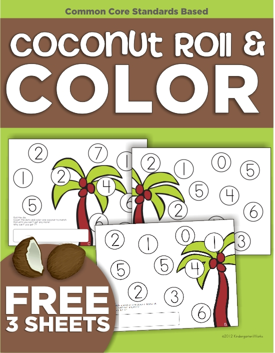 Coconut Tree Roll and Cover {Freebie Printable}