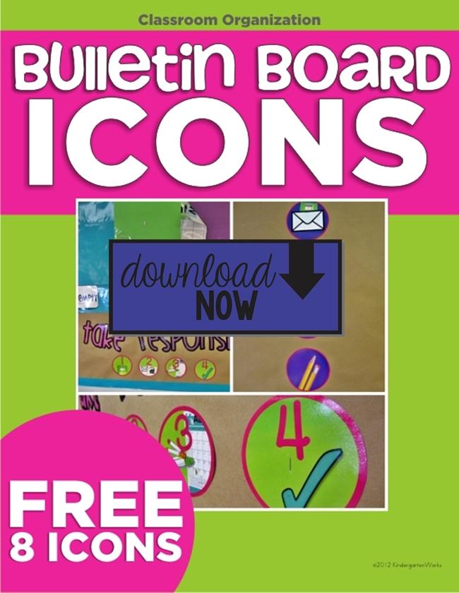 Bulletin Board Icons {Freebie Printable} Download