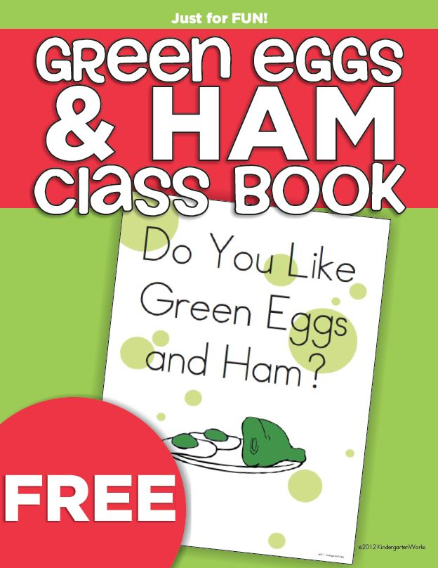 Green Eggs and Ham Class Book {Freebie Printable ...