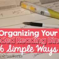 Organizing Your Guided Reading Binder – 6 Simple Ways