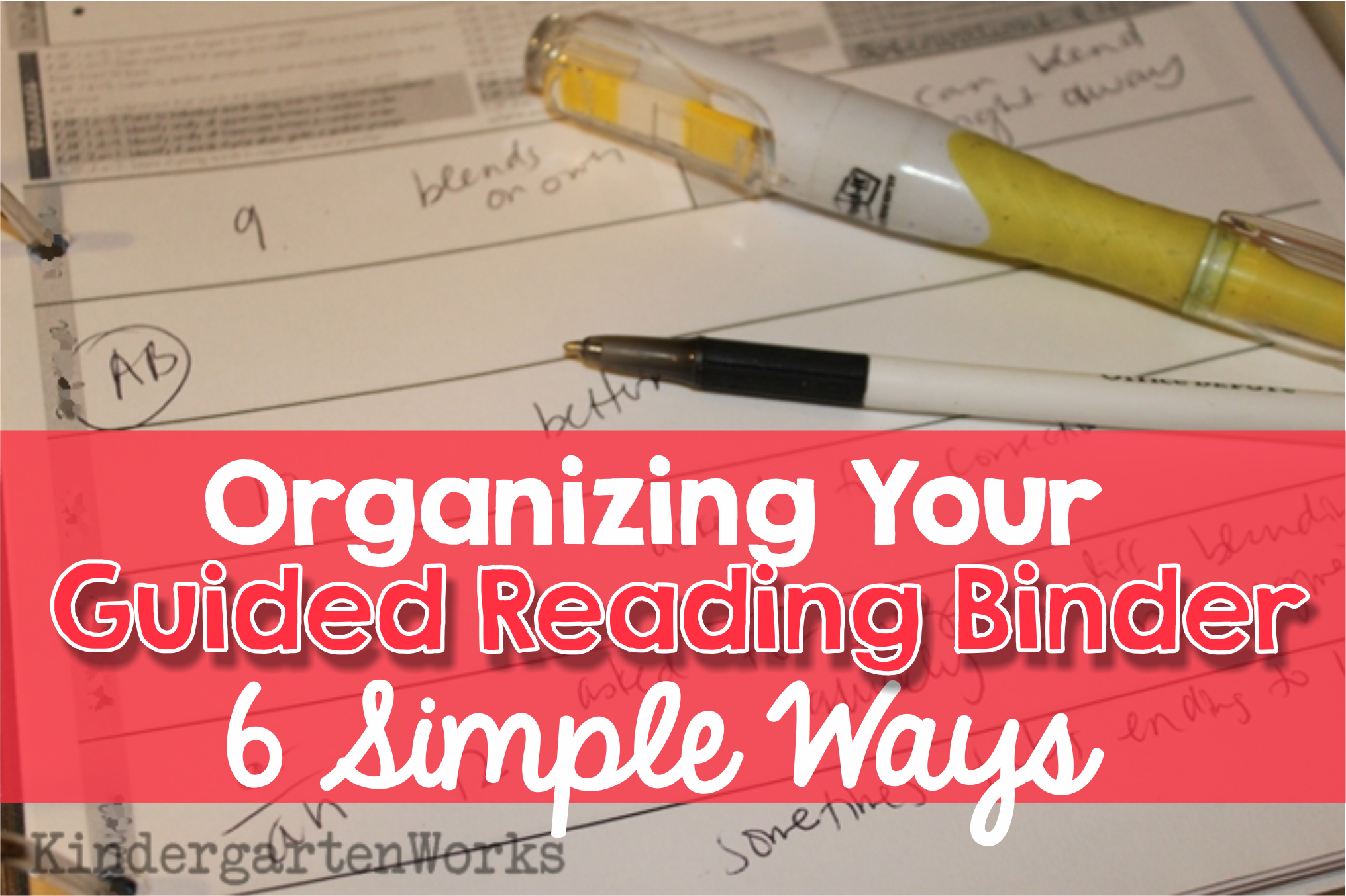 organizing your guided reading binder 6 simple ways