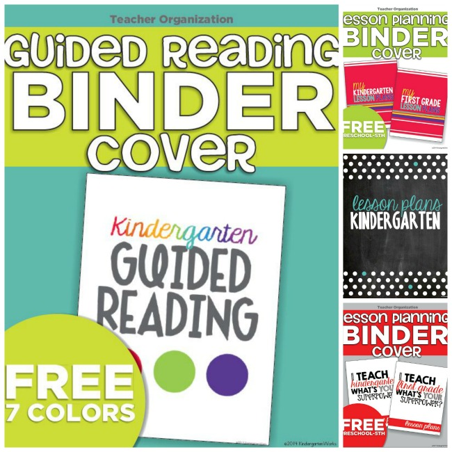 Guided Reading Binders Free Printable